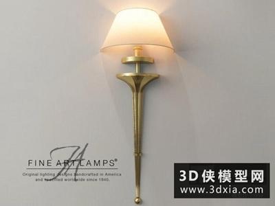歐式壁燈國外3D模型【ID:829360800】