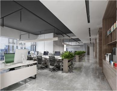 現代辦公室3D模型【ID:932387120】