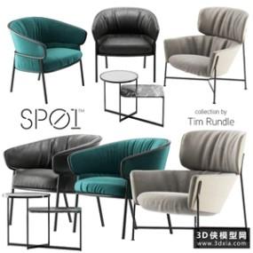 现代休闲椅国外3D模型【ID:729329830】