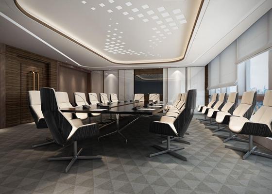 現代會議室3D模型【ID:728116817】
