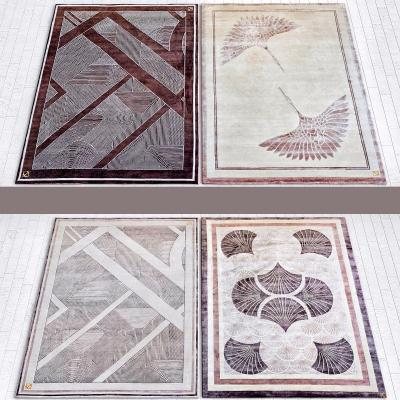 现代布艺地毯3D模型【ID:428443066】