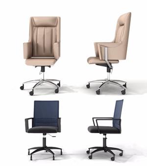 現代辦公椅組合3D模型【ID:732413463】