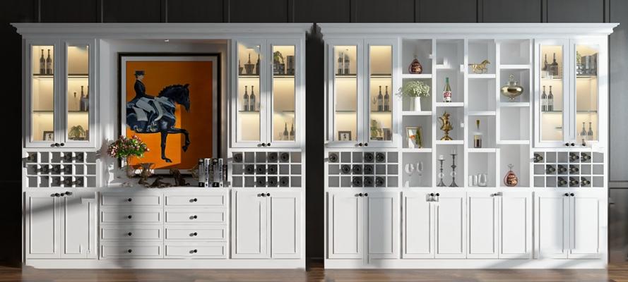 酒柜3D模型【ID:920603041】