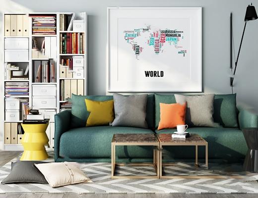 双人沙发3D模型【ID:920609773】