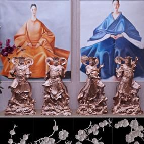 雕塑佛像摆件3D模型【ID:327928849】
