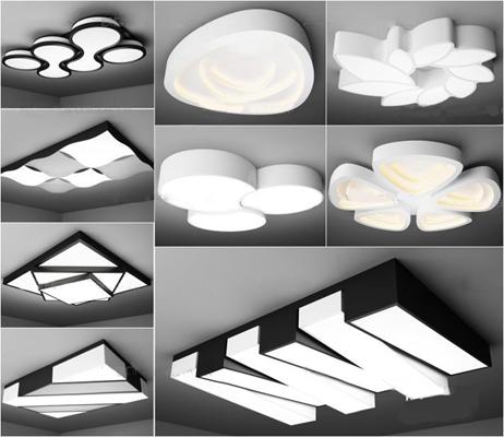 现代创意吸顶灯组合3D模型【ID:66847700】