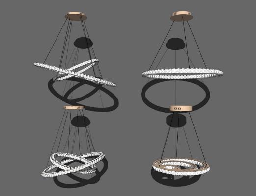 吊燈組合SU模型【ID:347337895】
