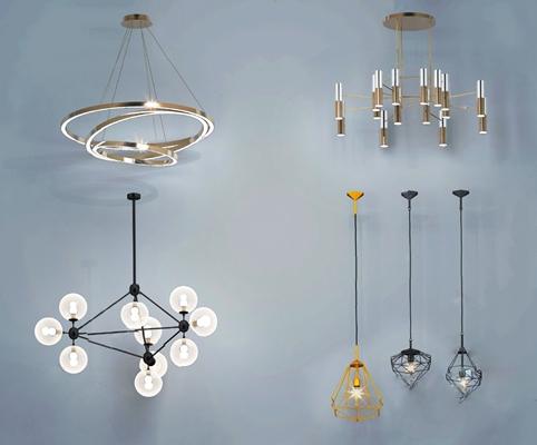 現代吊燈3D模型【ID:226225832】