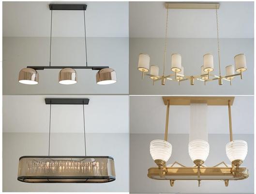 现代风格吊灯组合3D模型【ID:66960062】