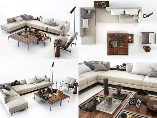 北欧沙发组合3D模型【ID:66960529】