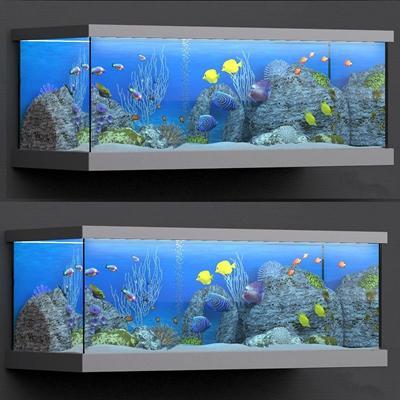 现代水族鱼缸3D模型【ID:66965975】