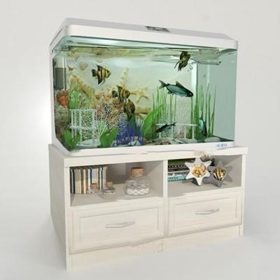 现代生态水族箱鱼缸3D模型【ID:66967270】