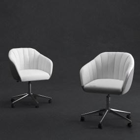 现代布艺办公椅3d模型【ID:742270484】