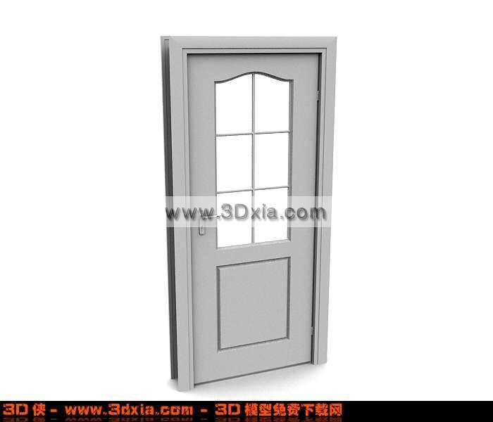 3精美的卫生间门模型下载3D模型【ID:669】