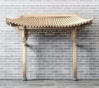 中式門頭3D模型【ID:528288484】