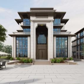 现代别墅外观3D模型【ID:528031495】