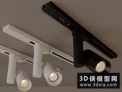 軌道射燈國外3D模型【ID:929420191】