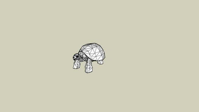 加拉帕戈斯巨型tortoiseSU模型【ID:739842569】