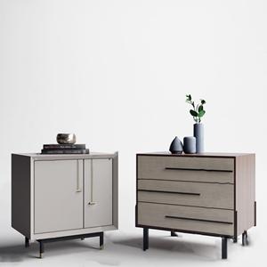 现代床头柜组合3D模型【ID:920802619】
