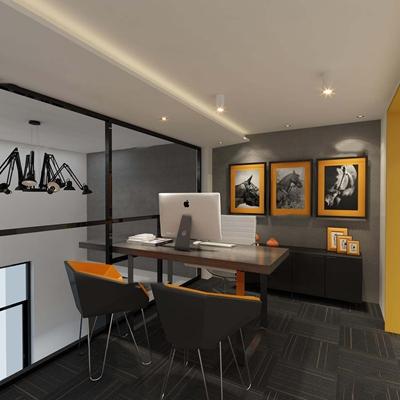 现代主管办公桌椅3D模型【ID:67017268】