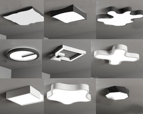 现代创意吸顶灯3D模型【ID:67021708】