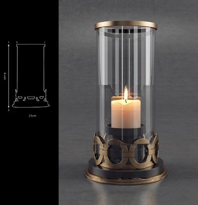 现代金属玻璃罩烛台3D模型【ID:67049232】