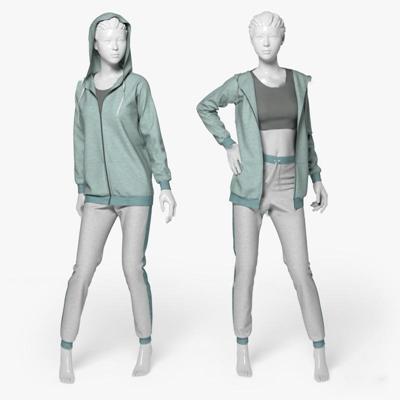 现代运动服女士人物模特组合3D模型【ID:67055951】