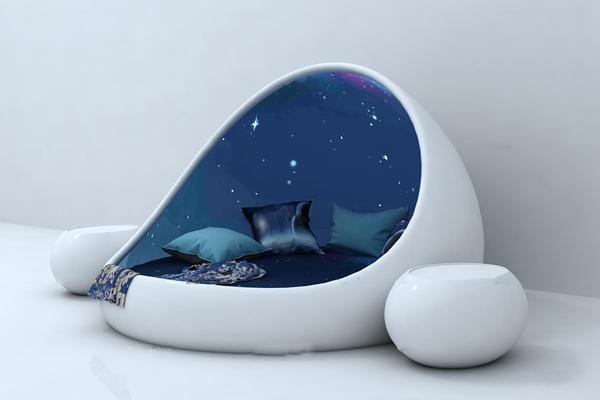 现代星空个性床休闲沙发3D模型【ID:67056294】