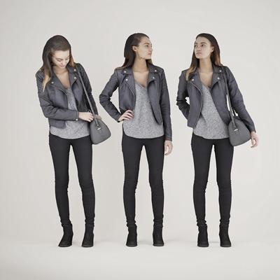 现代女性人物3D模型【ID:67076759】