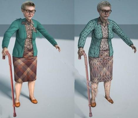 老年妇女3D模型【ID:67088056】