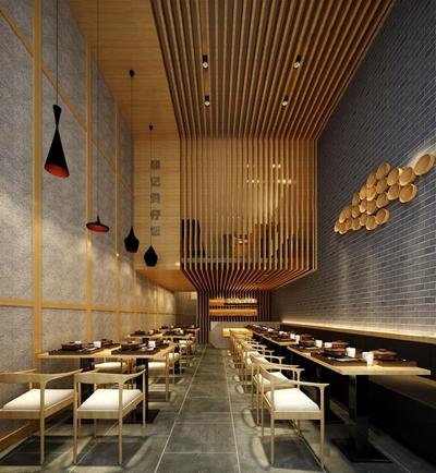 新中式餐館3D模型【ID:328018457】