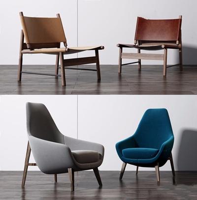 现代休闲椅组合3D模型【ID:227890494】