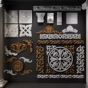 欧式雕花石膏线罗马柱组合365彩票【ID:67150697】