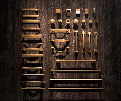 现代精品铜质拉手组合3D模型下载【ID:67151398】
