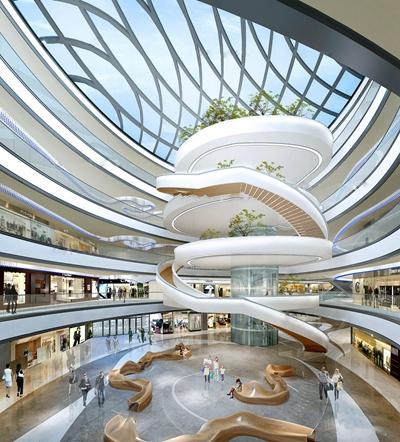 现代商场大厅3D模型下载【ID:67160514】