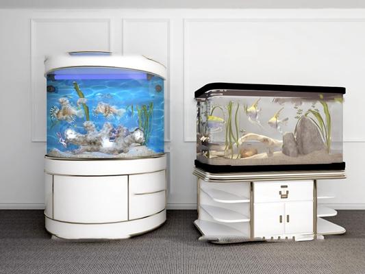 现代鱼缸水族箱3D模型【ID:67168070】