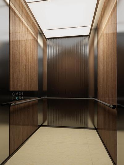 现代酒店电梯间3D模型【ID:67170324】