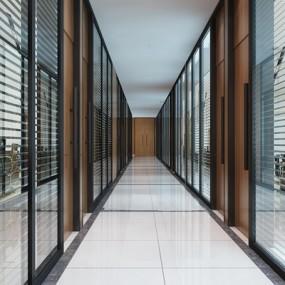 现代办公室过道走廊3D模型【ID:67171129】