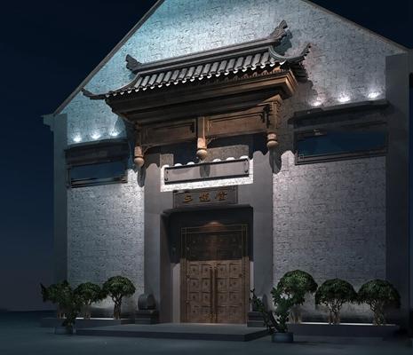中式古建门头3D模型【ID:67173212】