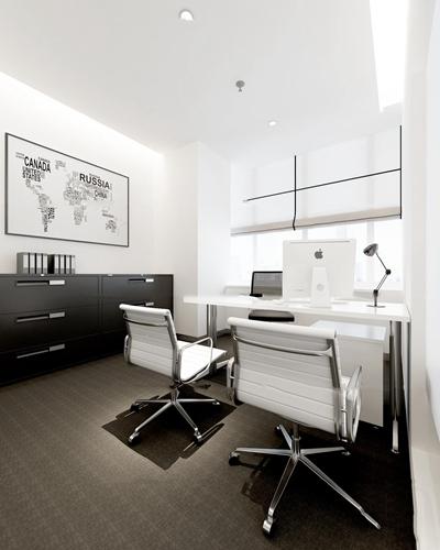 现代办公桌椅边柜组合3d模型【ID:67190964】
