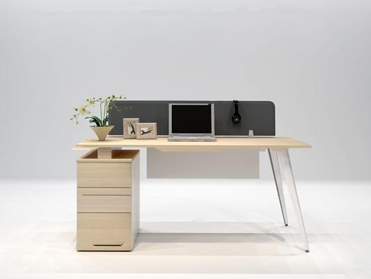 现代办公桌文件柜3D模型【ID:67192265】