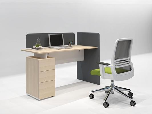 现代办公桌椅组合3D模型【ID:67192369】