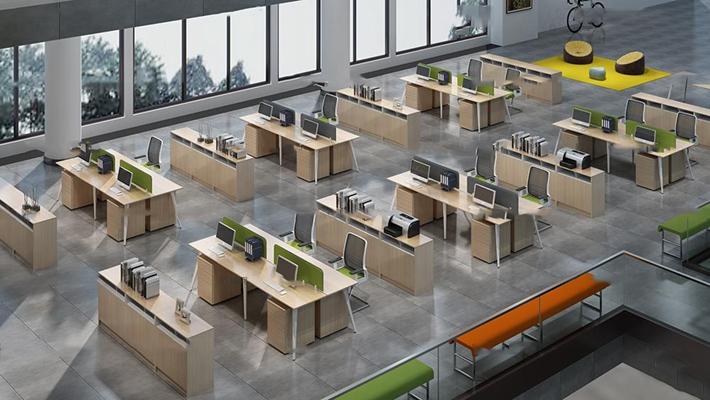 现代办公桌椅3D模型【ID:67221063】