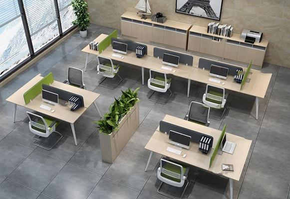 现代办公桌椅3D模型【ID:67221064】
