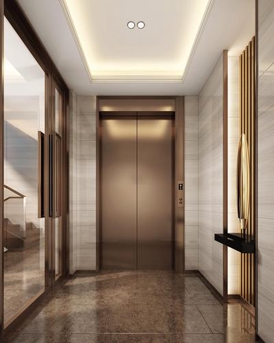 现代电梯间3D模型【ID:619681248】