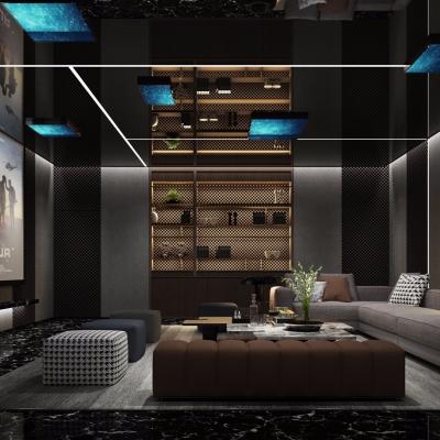 現代家庭影音室視聽室3D模型【ID:827815909】