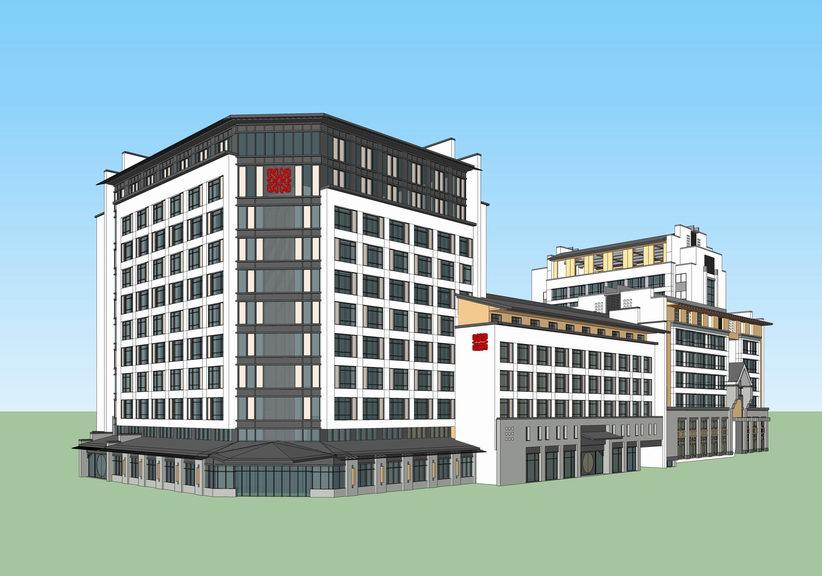 中式酒店SU模型【ID:336398516】