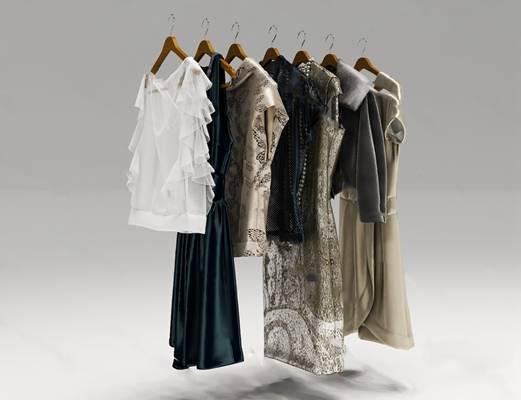 现代衣服3D模型下载【ID:419506171】