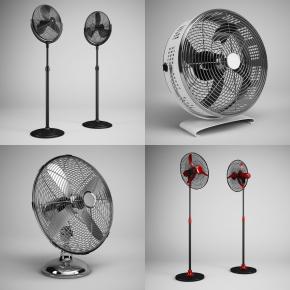 現代立式風扇組合3D模型【ID:127755412】