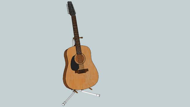 海鸥12弦左旋吉他SU模型【ID:939847163】